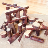 Natural Bark Tree Blocks
