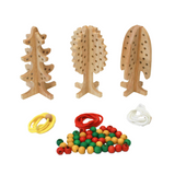 Wooden Lacing Tree Set