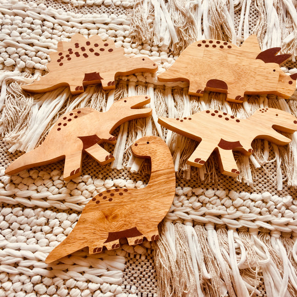 Set of 5 Wooden Dinosaurs