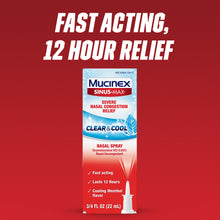 Load image into Gallery viewer, Mucinex Sinus-Max Full Force Nasal Decongestant Spray 0.75 oz