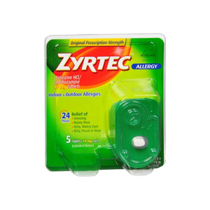 Zyrtec Allergy 10 mg Tablets 5 ea