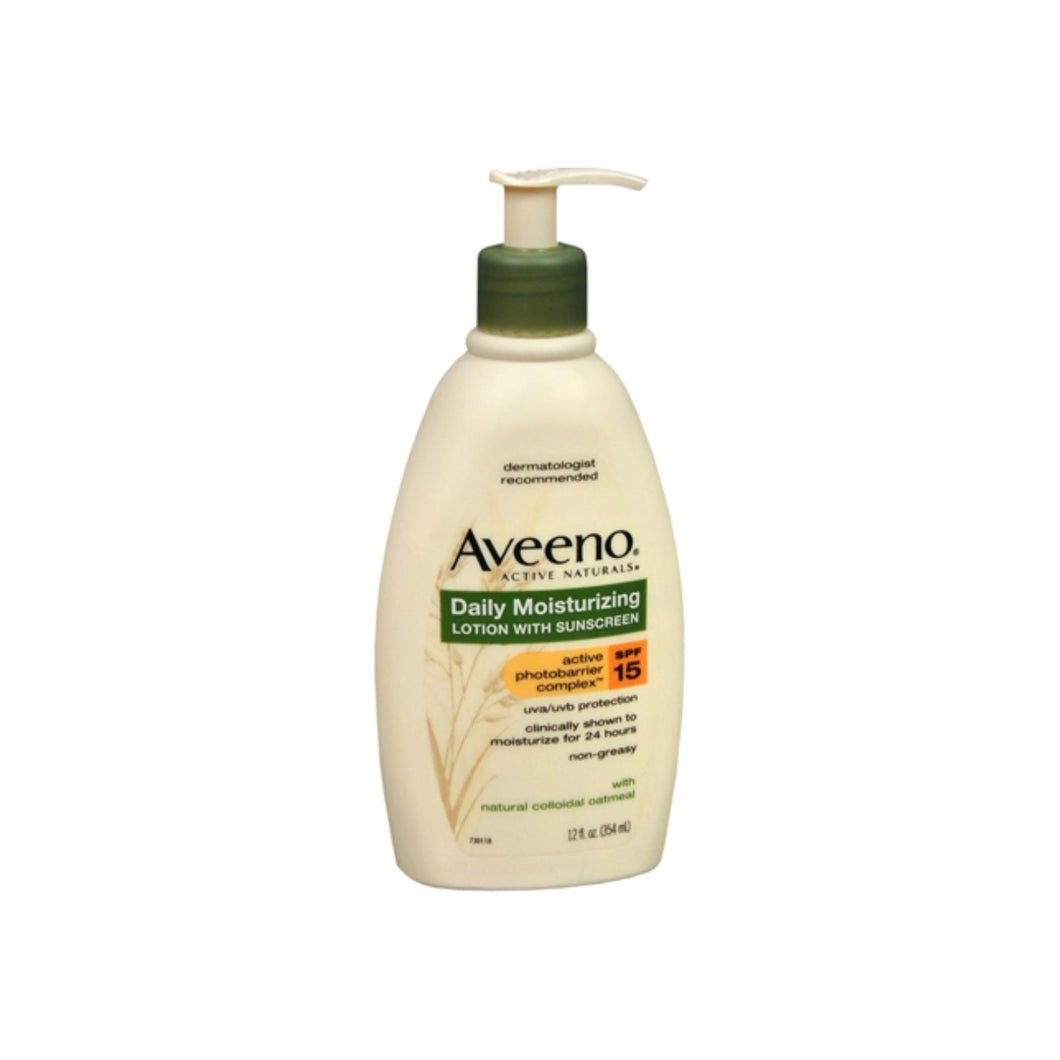 AVEENO Active Naturals Daily Moisturizing Lotion With Sunscreen SPF 15 12 oz