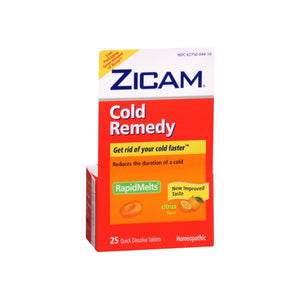 Zicam Cold Remedy RapidMelts with Vitamin C Citrus 25 Each