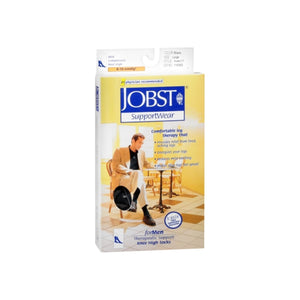 JOBST SupportWear Socks For Men Knee High 8-15 mmHg Black Large 1 Pair [035664103033]