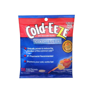 COLD-EEZE Lozenges All Natural Honey Lemon 18 Each