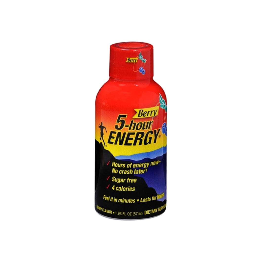 5 Hour Energy Dietary Supplement, Berry Flavor 1.93 oz 6 Pack