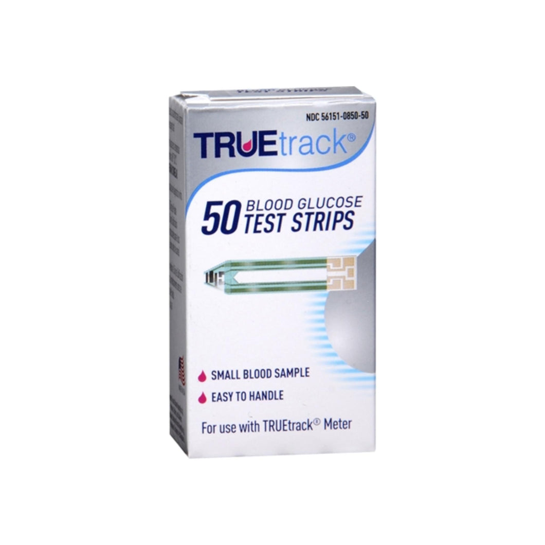 TrueTrack TrueFill Blood Glucose Test Strips 50 Each