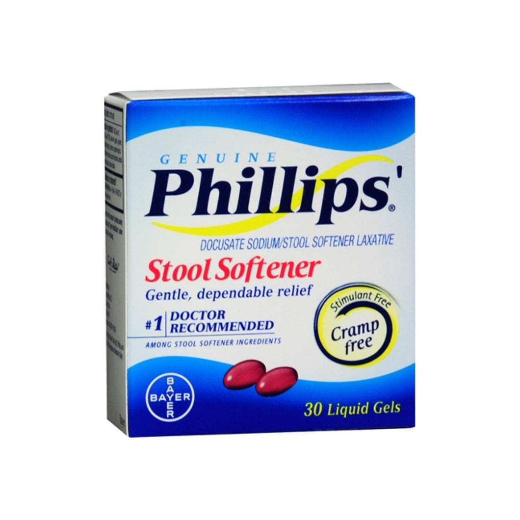 Phillips' Stool Softener Liquid Gels 30 Liquid Gels