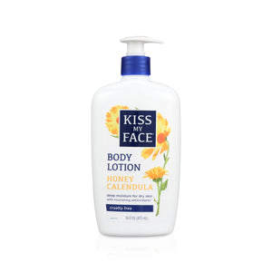 Kiss My Face Honey Calendula Deep Moisture Body Lotion For Dry Skin , 16oz, 1pc