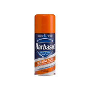 Barbasol Thick & Rich Shaving Cream, Sensitive Skin 10 oz