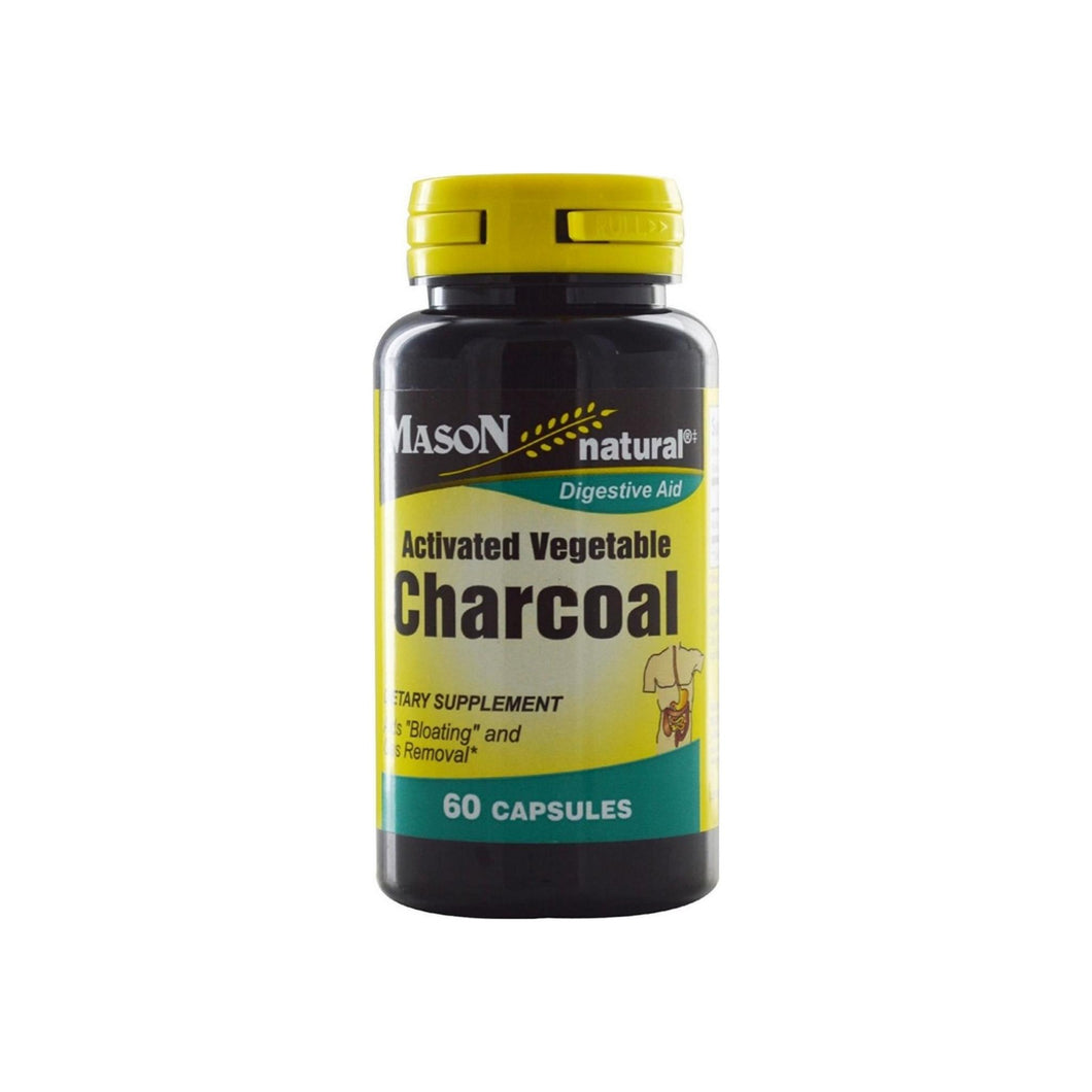 Mason Natural Activated Vegetable Charcoal Capsules 60 ea