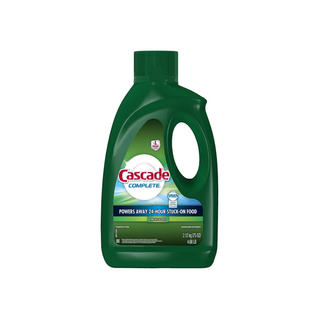 Cascade Complete Gel Dishwasher Detergent, Fresh Scent 75 oz