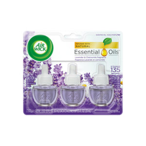 Air Wick Scented Oil Air Freshener, Lavender and Chamomile Scent, Triple Refills, 0.67 oz