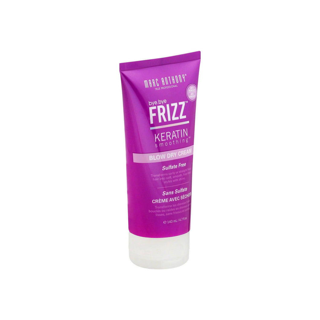 Marc Anthony True Professional Bye Bye Frizz Keratin Smoothing Blow Dry Cream 4.7 oz