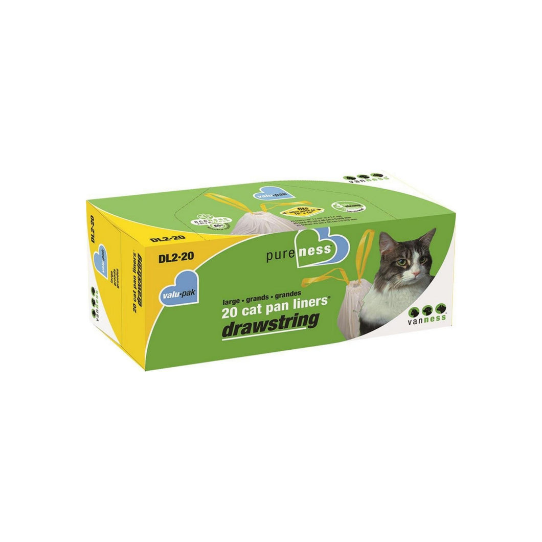 Van Ness Pure Ness Drawstrin Cat Pan Liners, Large 20 ea