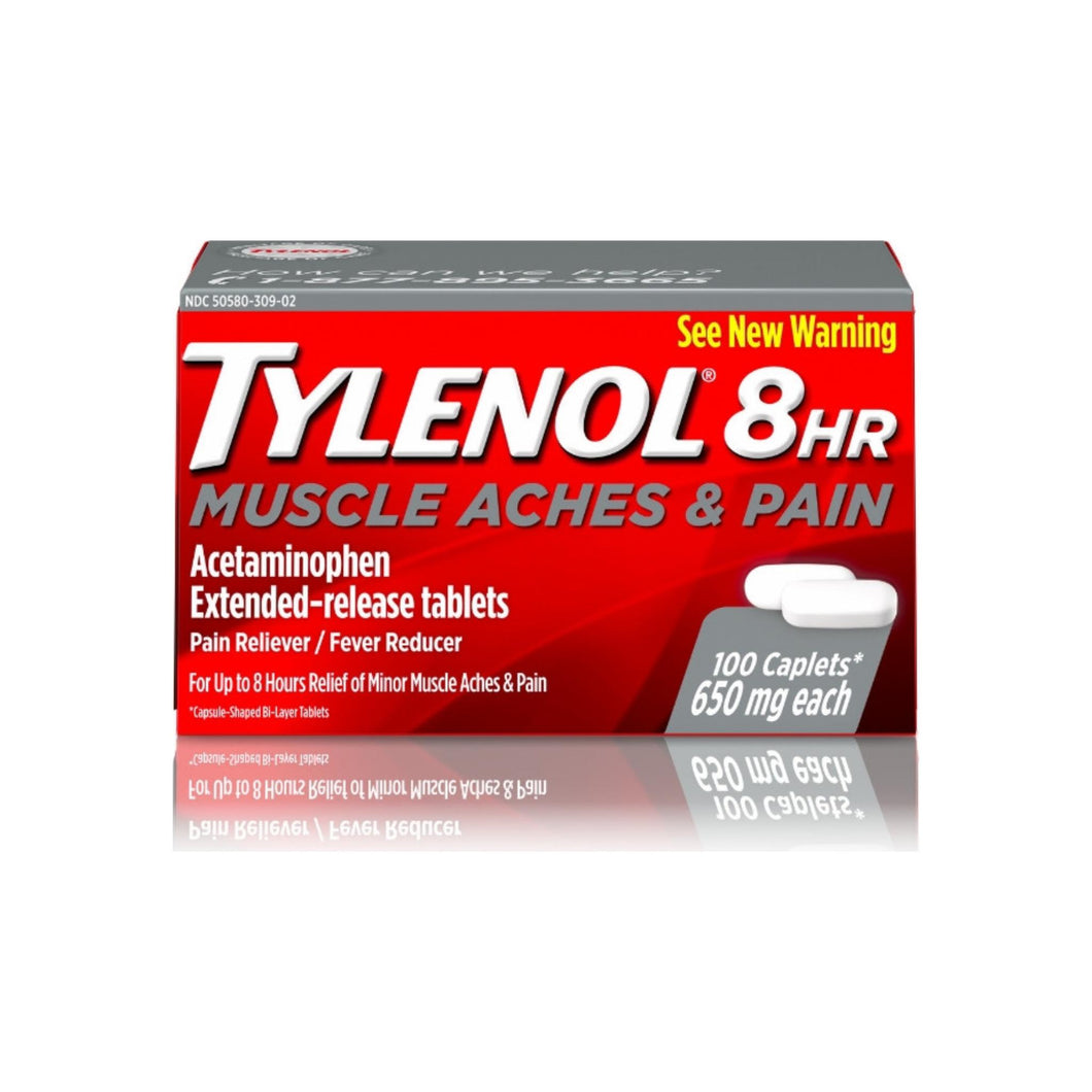 TYLENOL 8 Hour Muscle Aches & Pain Caplets 650 mg 100 ea