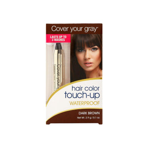 Cover Your Gray  Hair Color Waterproof Touch-Up Stick, Dark Brown 0.10 oz
