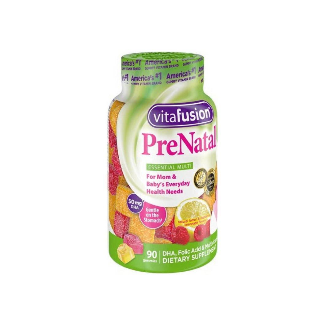 Vitafusion PreNatal Dietary Supplement, Lemon & Raspberry Lemonade Flavors 90 ea