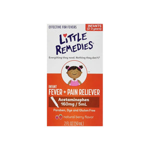Little Remedies Infant Fever/Pain Reliever Liquid Dye-Free Natural Berry Flavor 2 oz