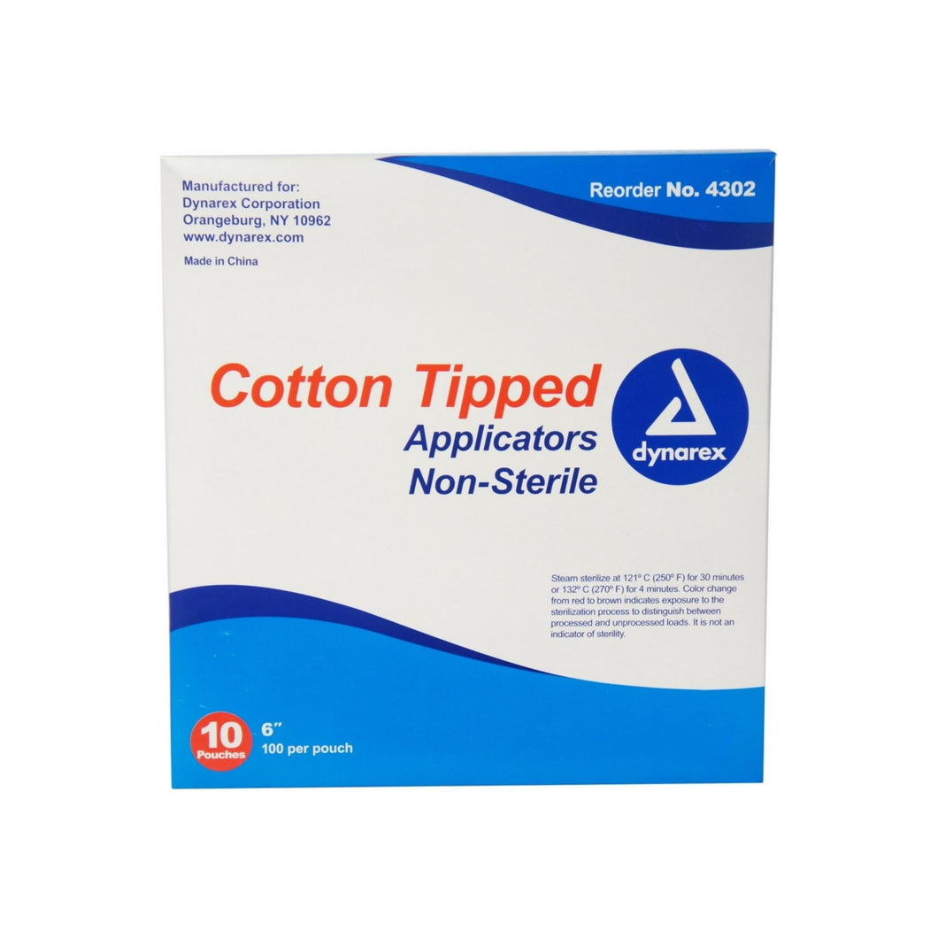 Dynarex Cotton Tipped Applicators 6 inch 1000 ea