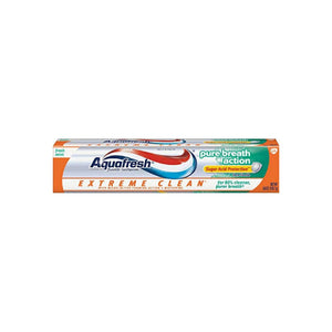 Aquafresh Extreme Clean Pure Breath Action Fluoride Toothpaste, Fresh Mint 5.6 oz