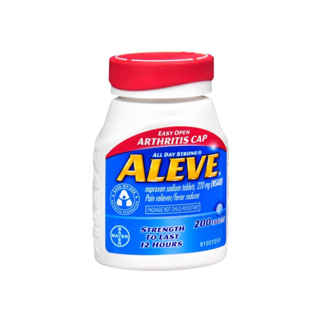 Aleve Tablets Easy Open Arthritis Cap 200 Tablets