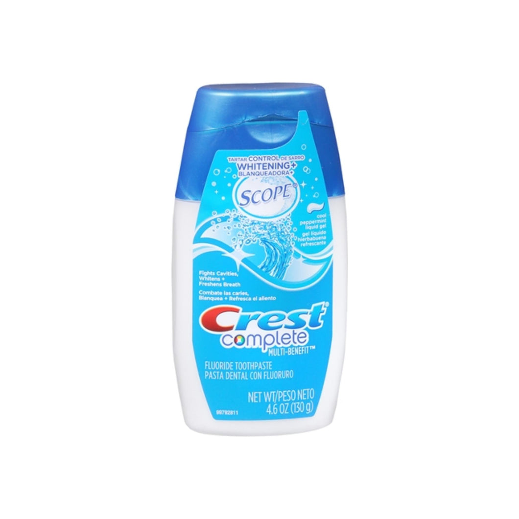 Crest Whitening Plus Scope Toothpaste Liquid Gel Cool Peppermint 4.60 oz