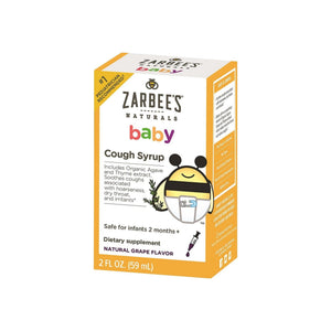 ZarBee's Naturals Baby Cough Syrup, Natural Grape Flavor 2 oz