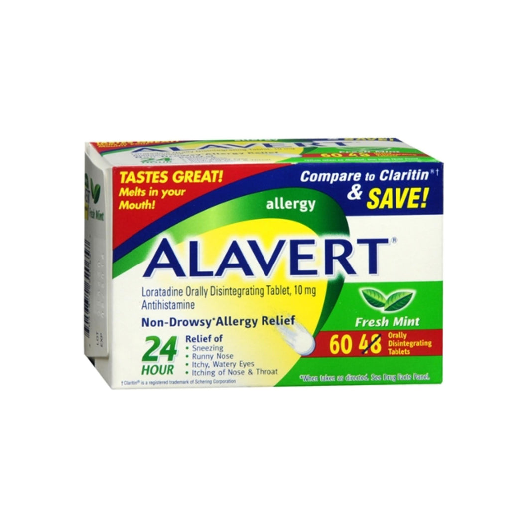 Alavert 24 Hour Orally Disintegrating Tablets Fresh Mint 60 Tablets
