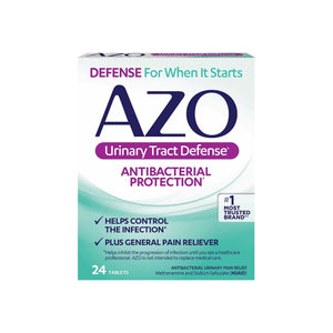 AZO Urinary Tract Defense Tablets, Antibacterial Protection 24 ea