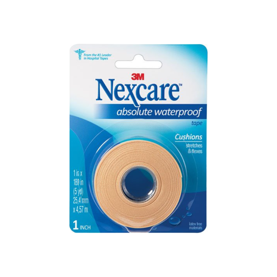 Nexcare Absolute Waterproof Tape 1 Inch X 5 Yards, 1ea