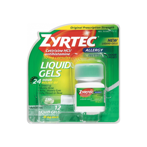 Zyrtec Allergy 10 mg Liquid Gels 12 ea
