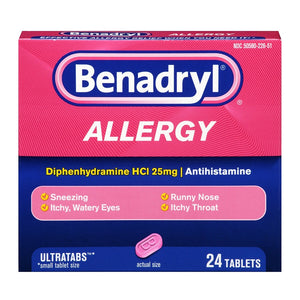 Benadryl Allergy Relief Ultratab Tablets 24 ea