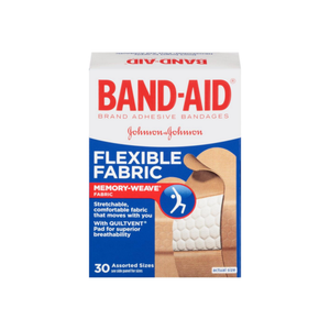 BAND-AID Bandages Flexible Fabric Assorted Sizes 30 Each [381370044307]