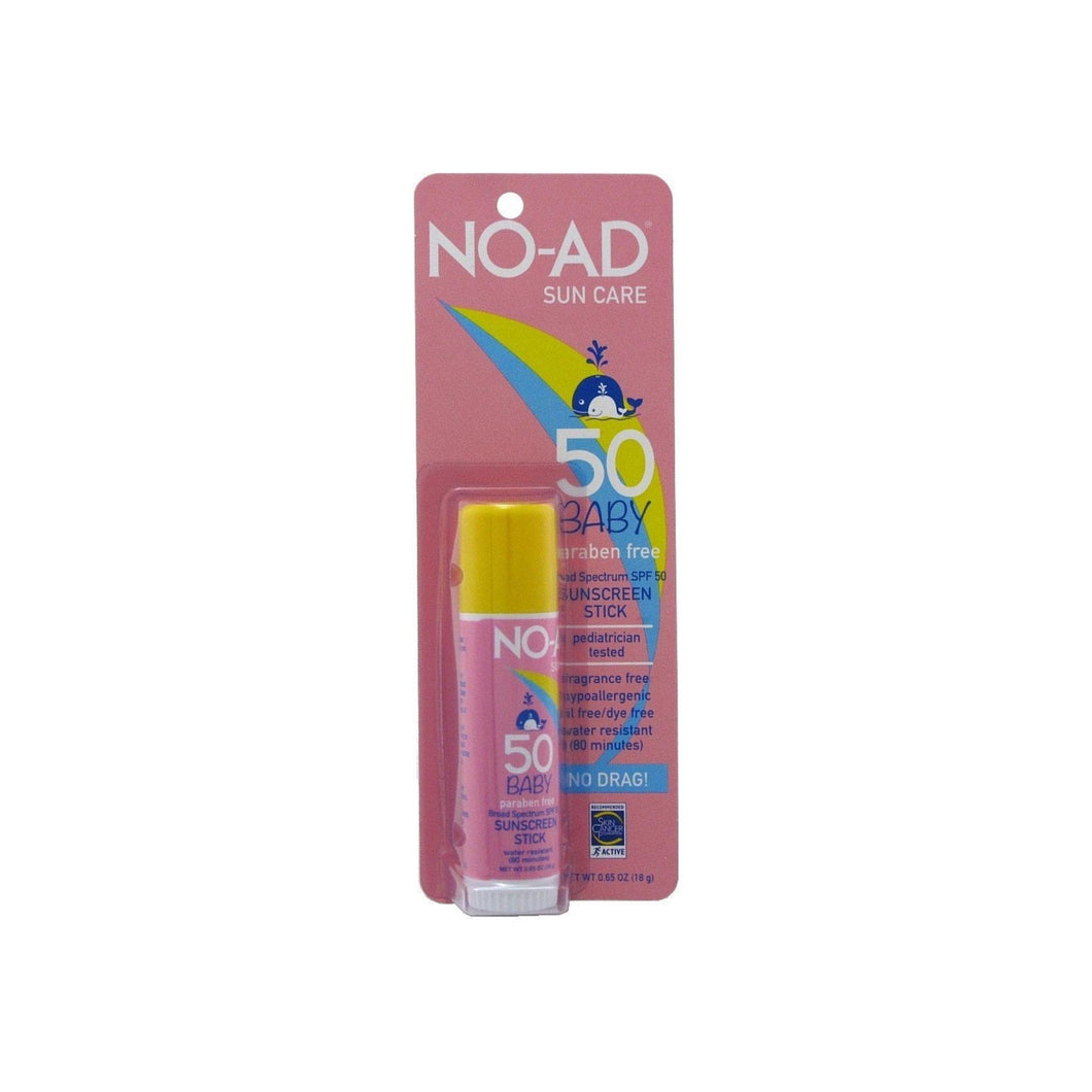 NO-AD Sun Care Baby Sunscreen Stick SPF 50 0.65 oz