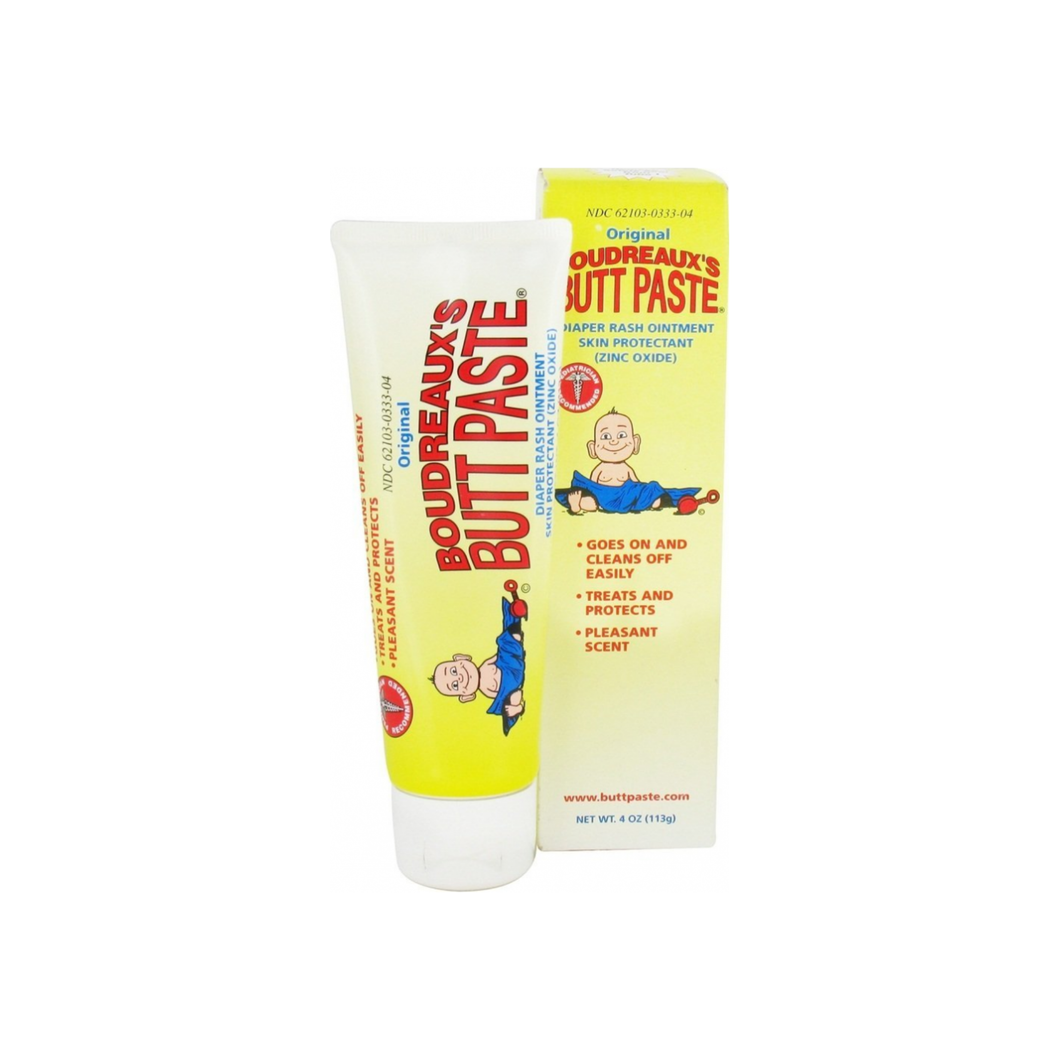 Boudreaux's Butt Paste Tube, Diaper Rash Ointment 4 oz