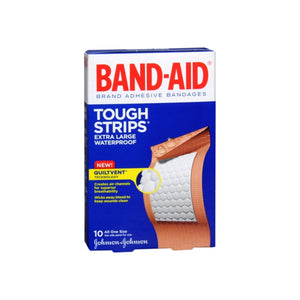BAND-AID Tough-Strips Adhesive Bandages Extra Large 10 Each