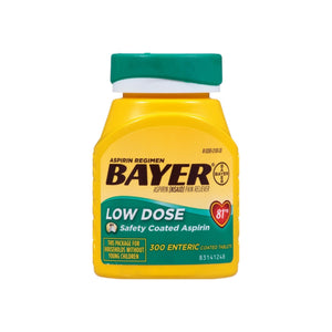 Bayer 81mg Enteric Low Dose Pain Relief Aspirin Tablets 300 ea