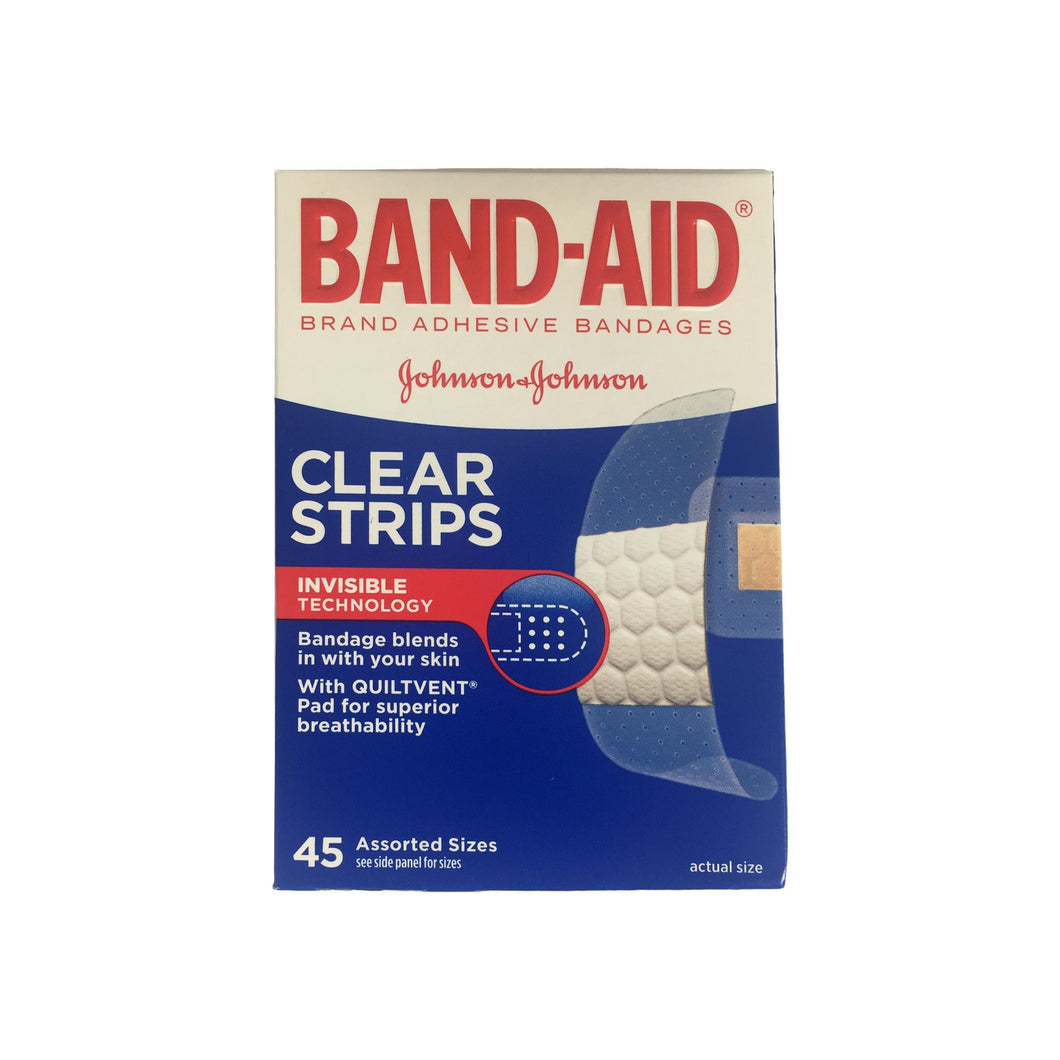 BAND-AID Clear Strips Invisible Technology, Assorted, 45 Each [381370057017]