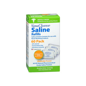 SinuCleanse Saline Refills 60 Packets 60 Each