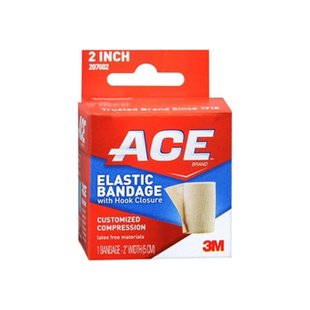 ACE Elastic Bandage With Hook Closure 2 Inches 1 Each