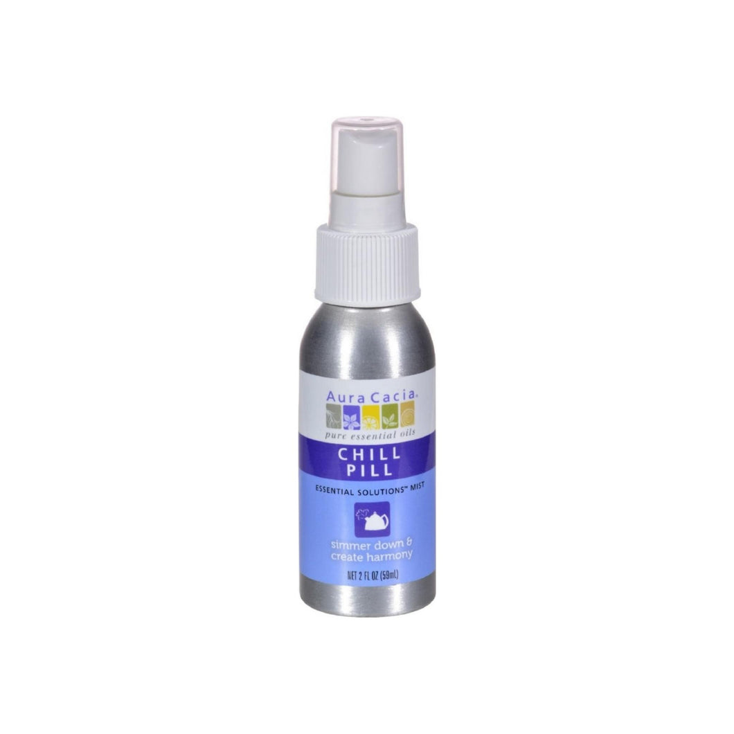 Aura Cacia Essential Solutions Mist, Chill Pill 2 oz