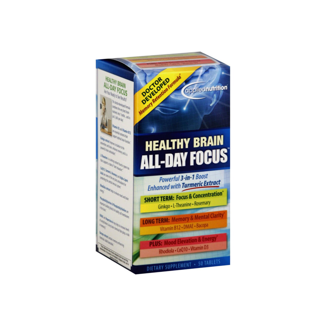Applied Nutrition Healthy Brain All-Day Focus Tablets 50 ea
