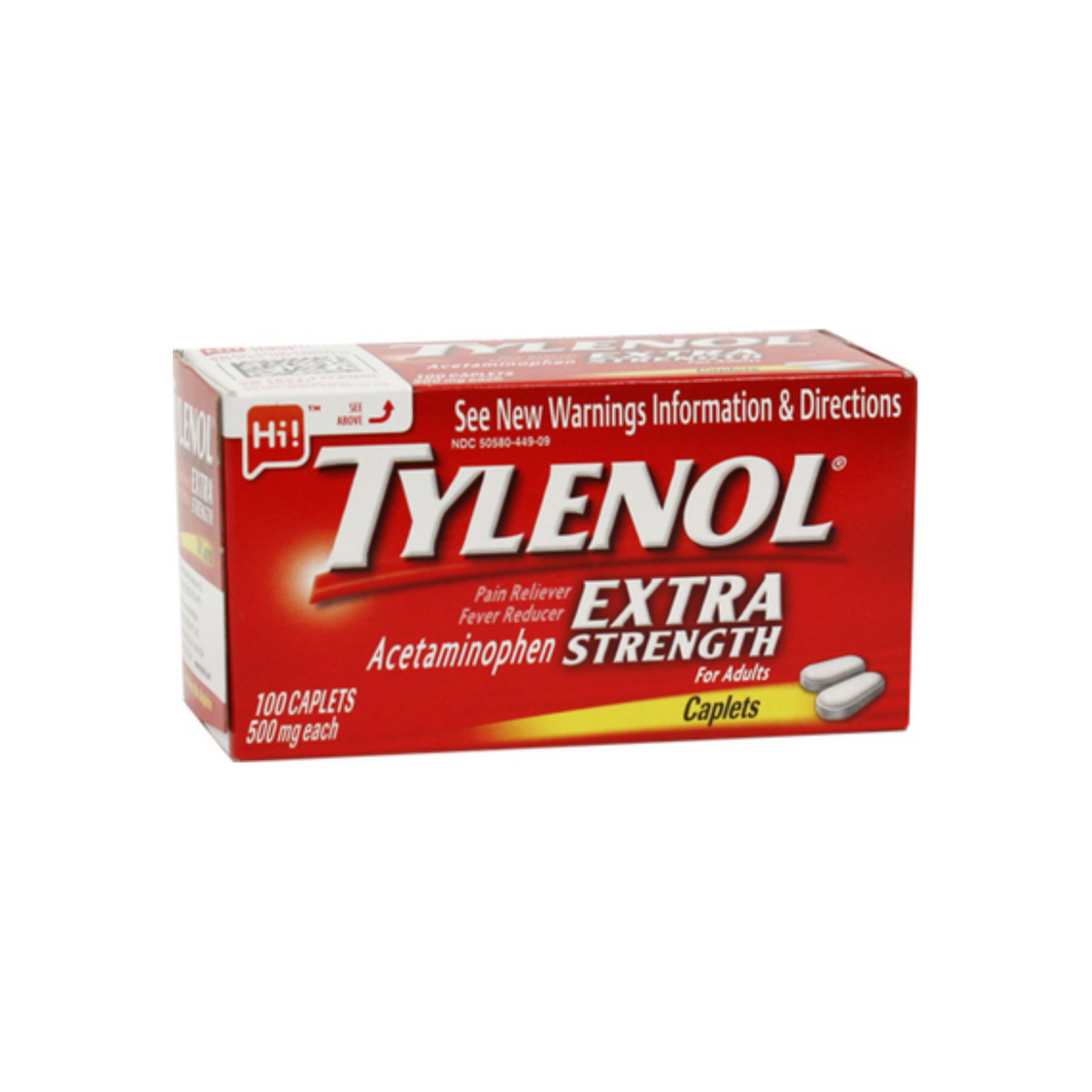 TYLENOL Extra Strength Pain Reliever & Fever Reducer, 500 mg Caplets 100 ea