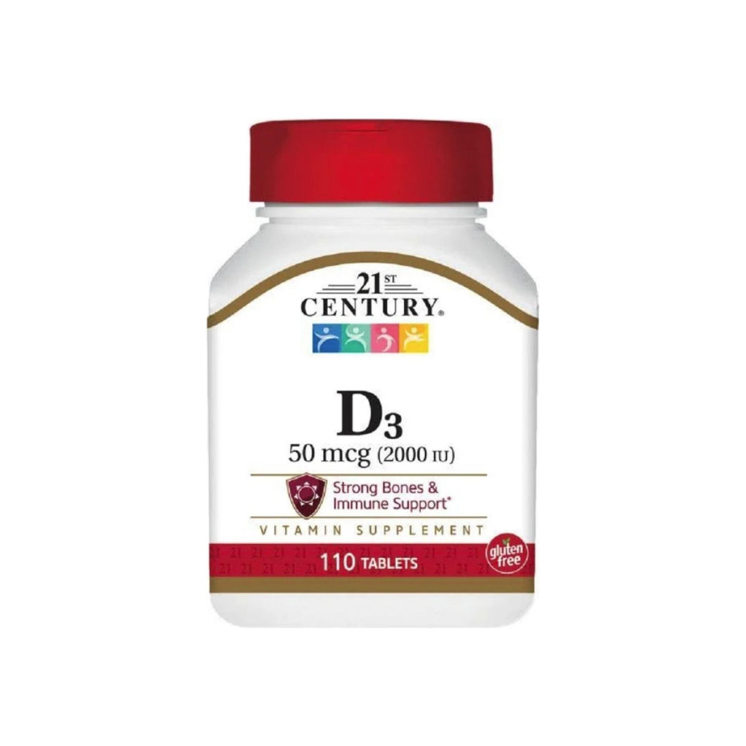 21st Century Vitamin D3 2000 IU Tablets 110 ea - Pharmapacks
