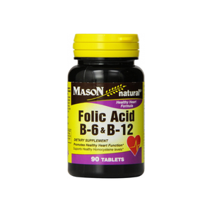 Mason Natural Folic Acid, B-6 & B-12 Tablets 90 ea