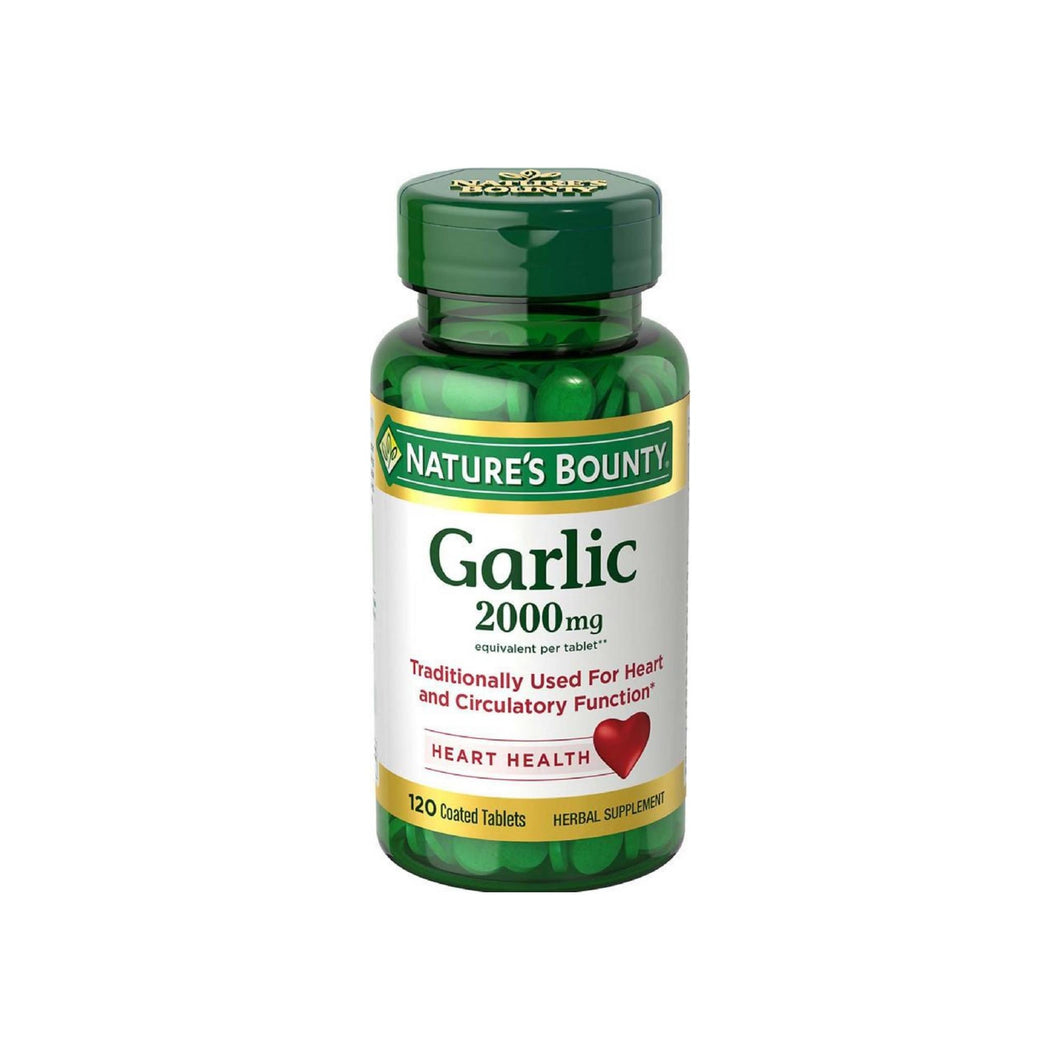 Nature's Bounty Garlic 2000mg, Tablets 120 ea