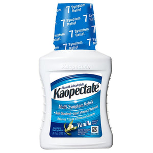 Kaopectate Multi-Symptom Relief Anti-Diarrheal/Upset Stomach Reliever Liquid, Vanilla 8 oz
