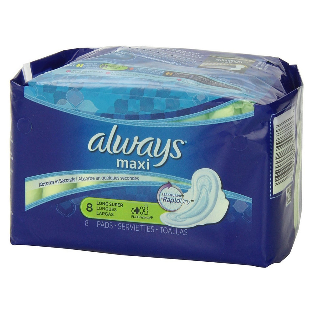 Always Maxi Super Long Flexi-Wings Pads 8 ea