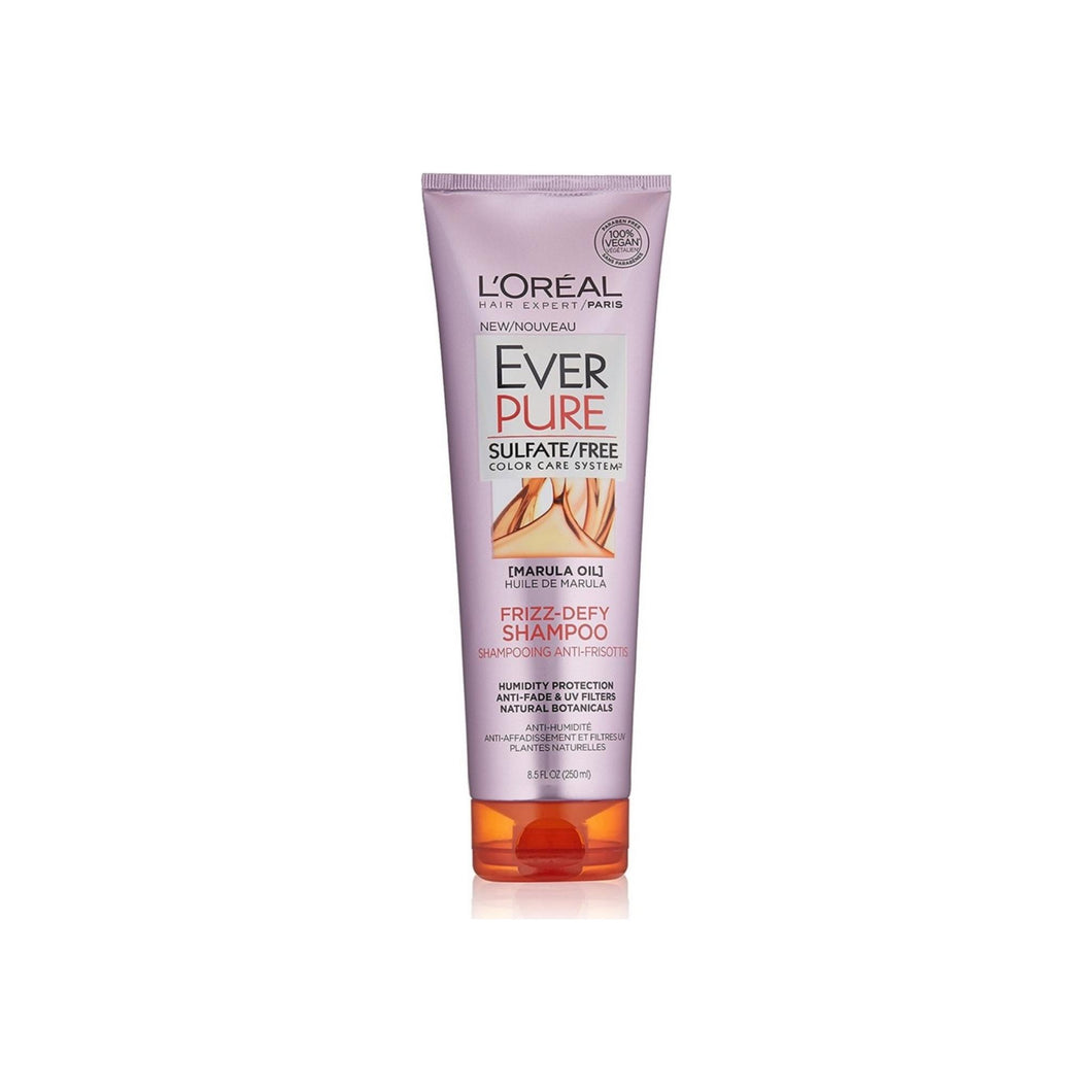 L'Oreal Paris Hair Expertise EverPure Frizz-Defy Shampoo, Marula Oil 8.5 oz
